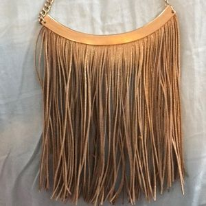 Nordstrom gold tassel necklace